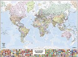 Cartina Geografica Mondo Buffetti.Carta Geogr Murale Mondo 99 132cm Belletti Comunicazione Visiva Cart Cartine Geografiche Su Euro Ufficio It